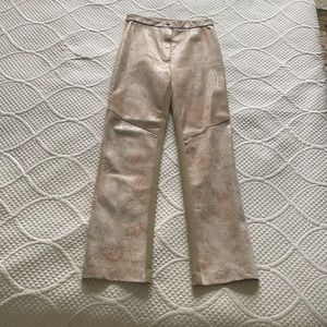 Suede leather & spandex stretch pants by Mitchie's